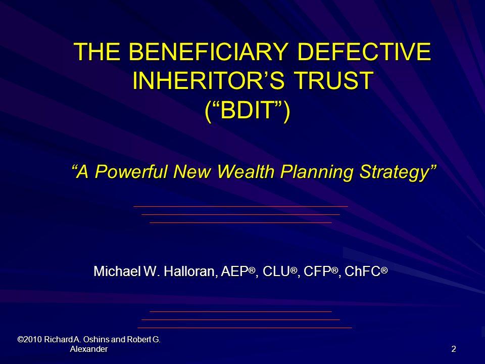 Michael W. Halloran, AEP®, CLU®, CFP®, ChFC®