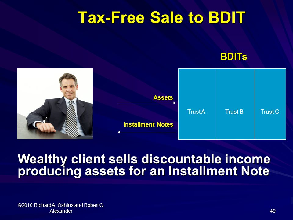 Tax-Free Sale to BDIT Assets Installment Notes