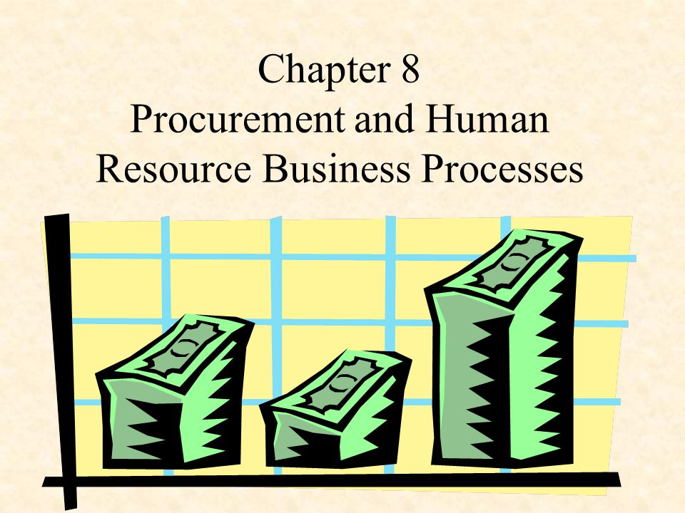 Chapter 8 Procurement and Human Resource Business Processes
