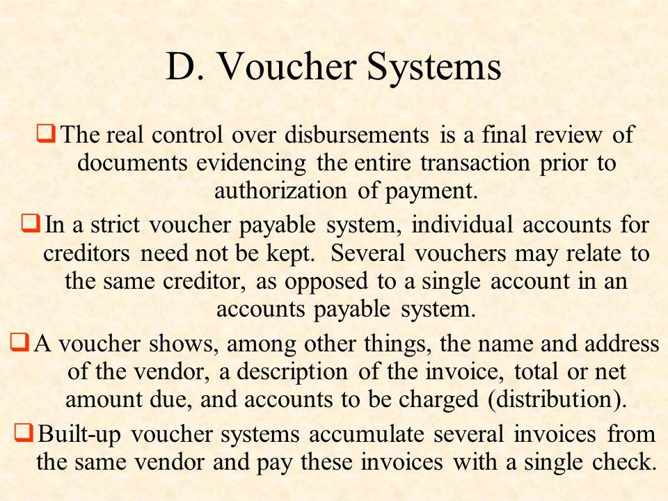 D. Voucher Systems