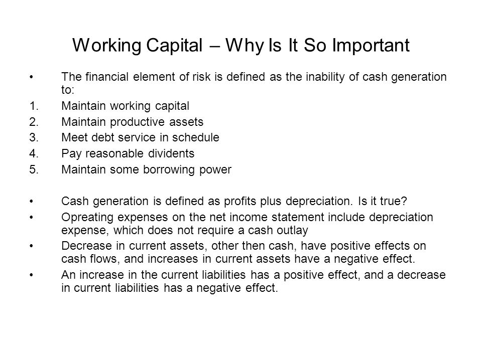 Working Capital – Why Is It So Important