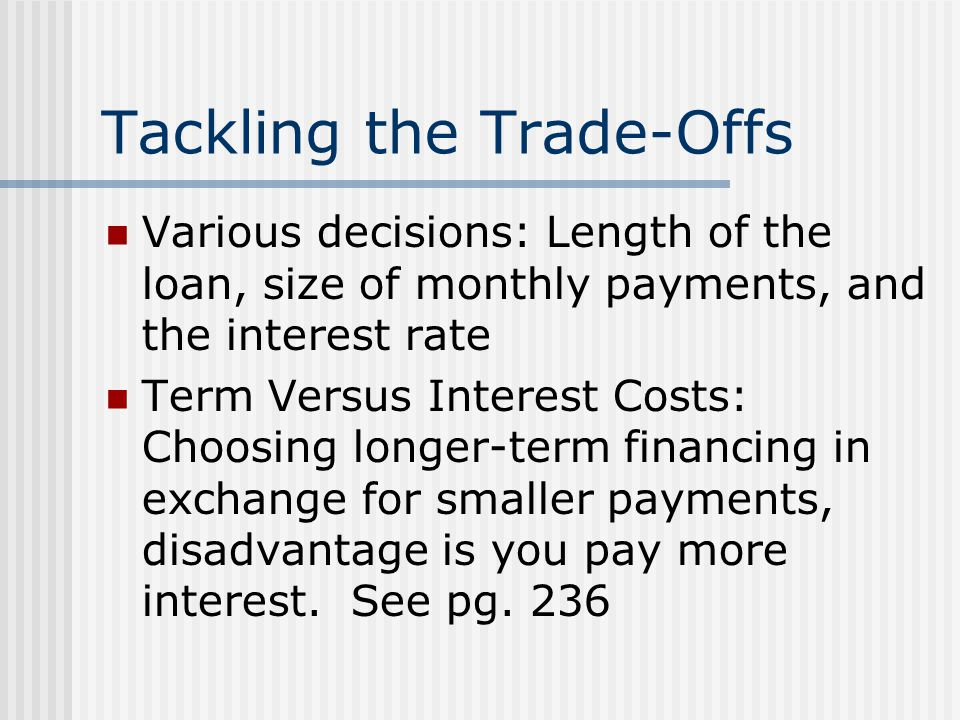 Tackling the Trade-Offs