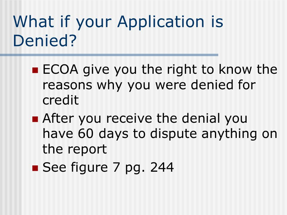 What if your Application is Denied