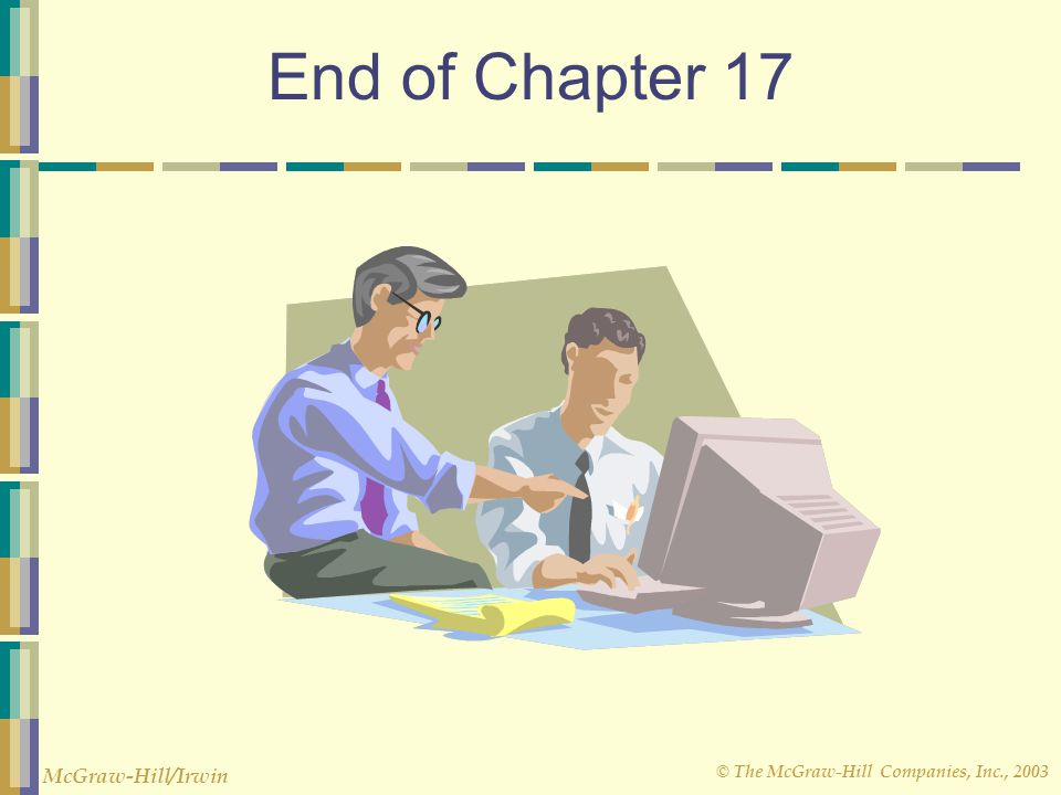 End of Chapter 17