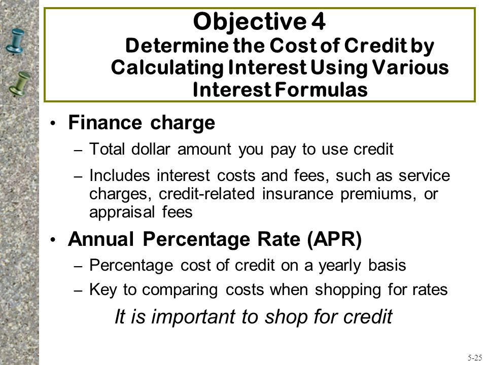 It is important to shop for credit