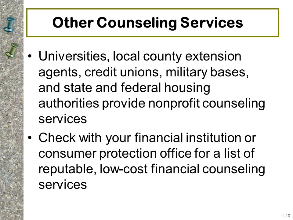 Other Counseling Services