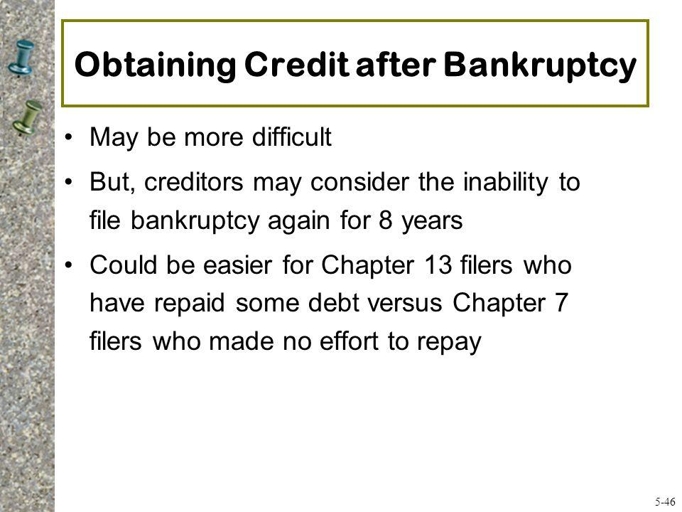 Obtaining Credit after Bankruptcy