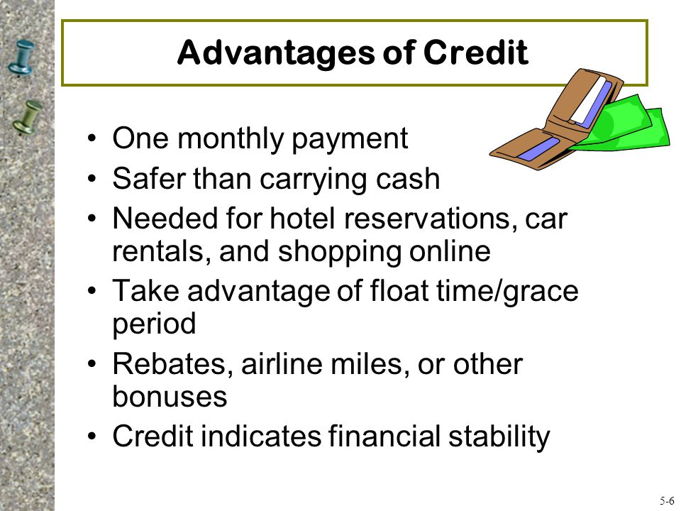 Advantages of Credit One monthly payment Safer than carrying cash