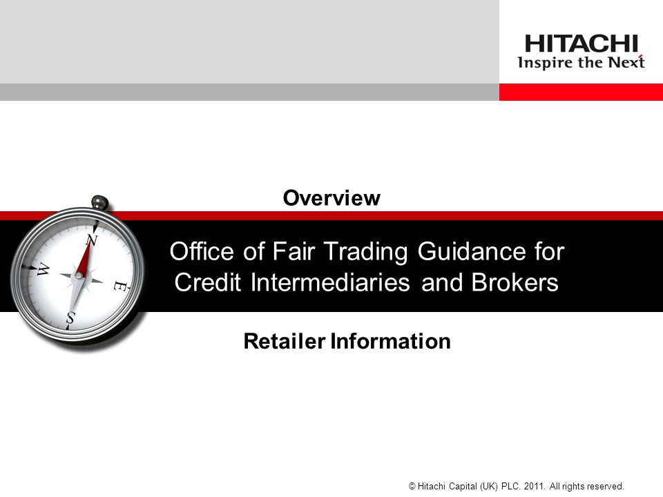 Office of Fair Trading Guidance for Credit Intermediaries and Brokers
