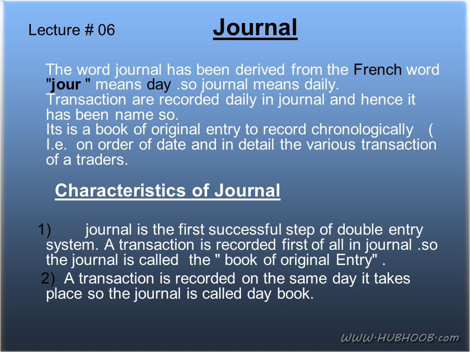 Lecture # 06 Journal