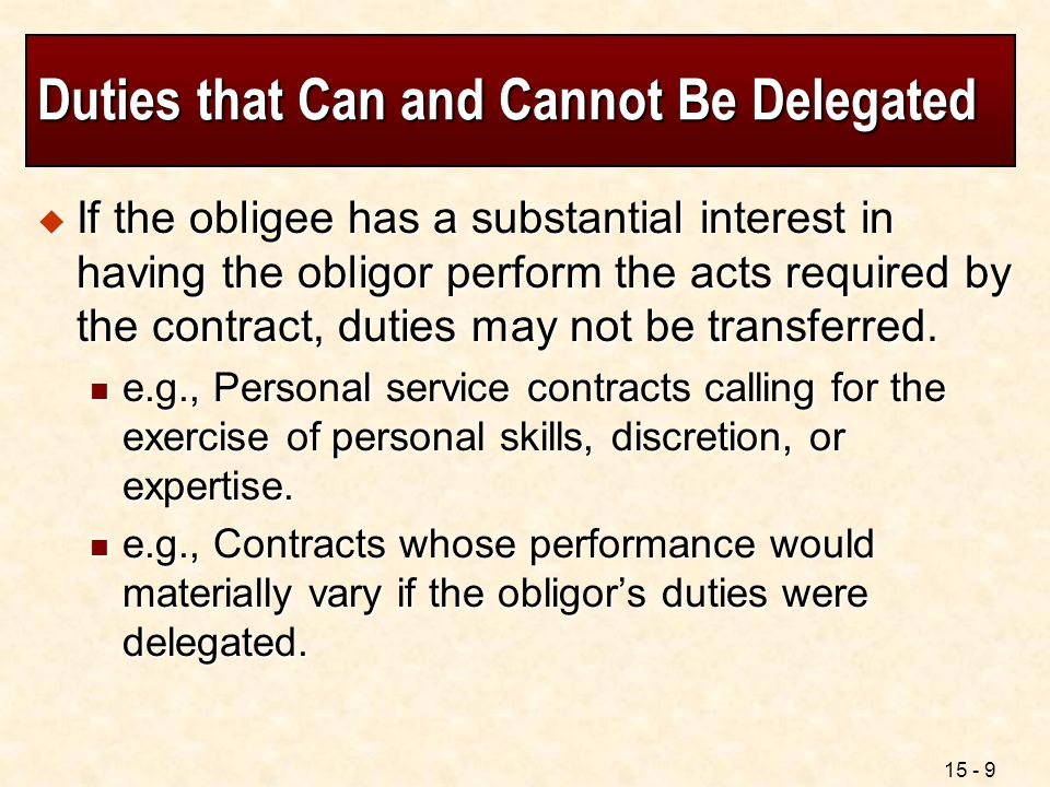 Contract Rights And Duties - Ppt Video Online Download