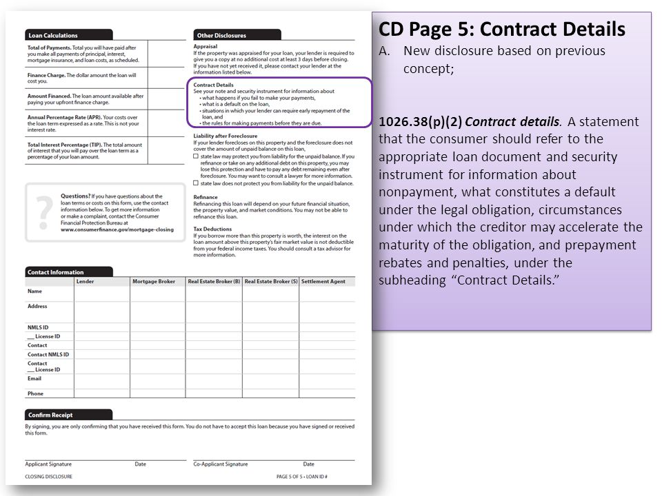 CD Page 5: Contract Details