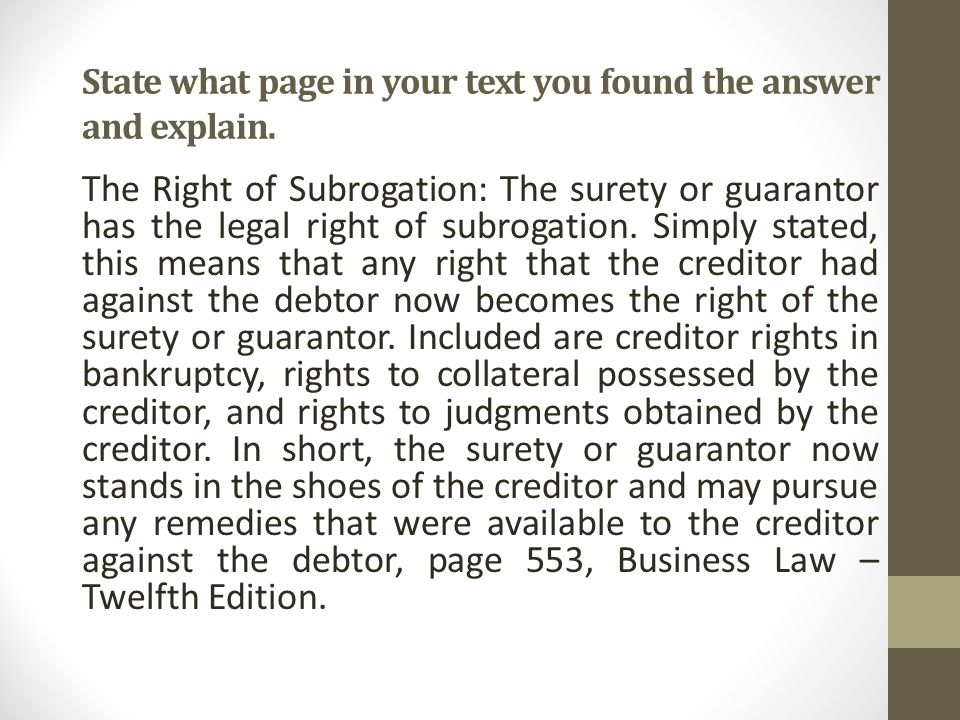 State what page in your text you found the answer and explain.