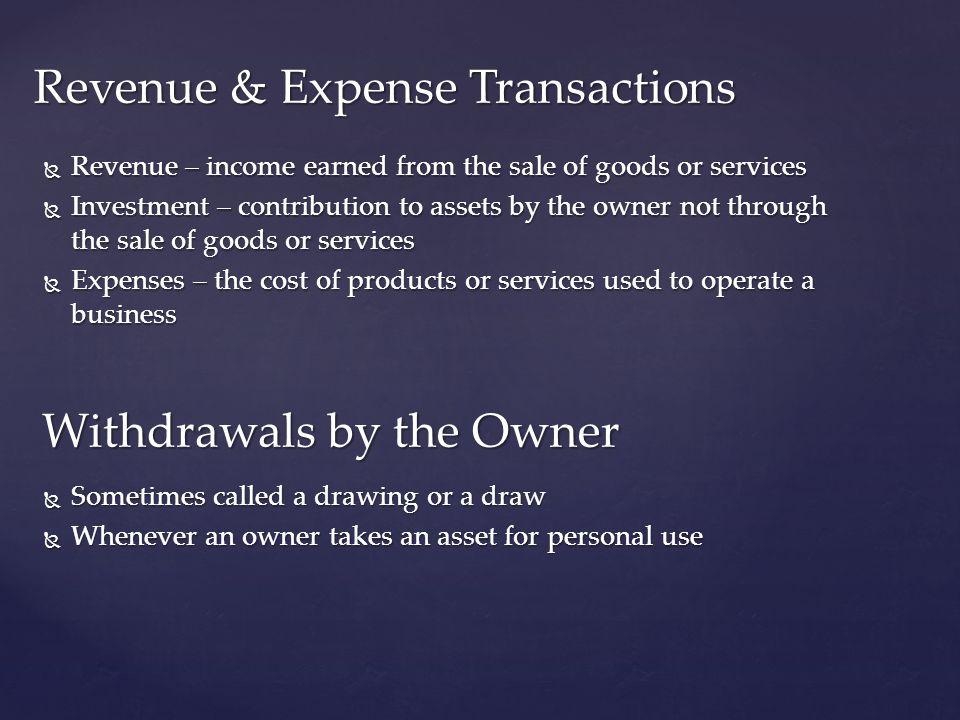 Revenue & Expense Transactions