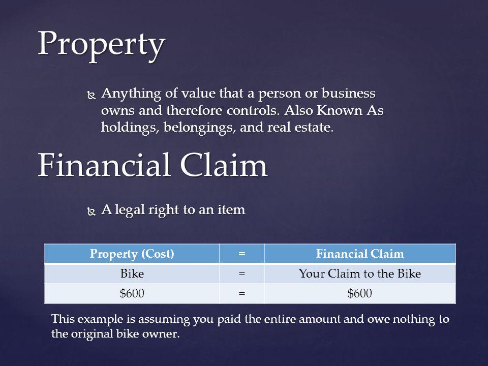 Property Financial Claim