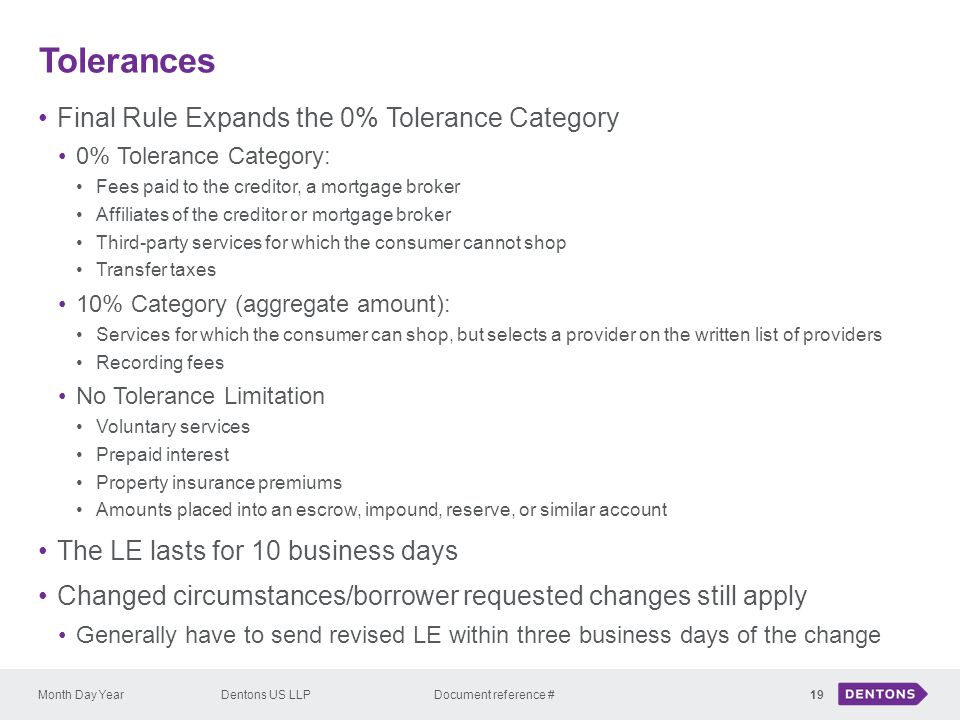 Tolerances Final Rule Expands the 0% Tolerance Category