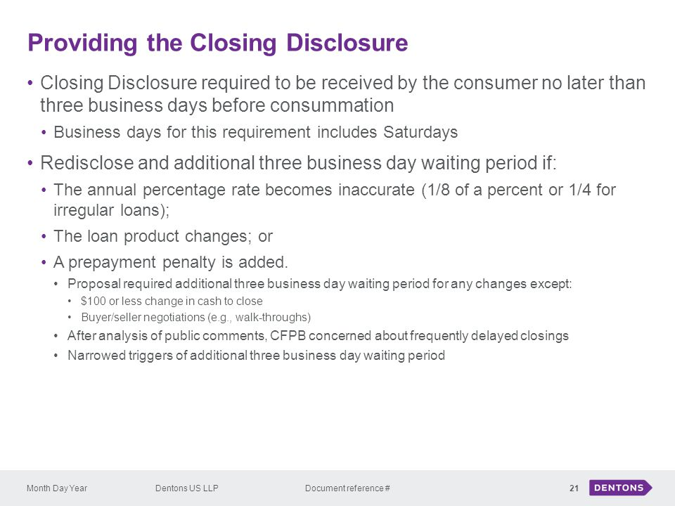 Providing the Closing Disclosure
