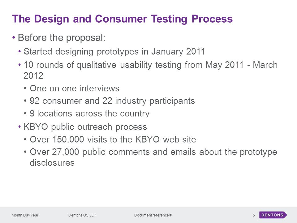 The Design and Consumer Testing Process