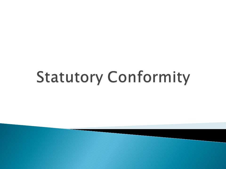 Statutory Conformity