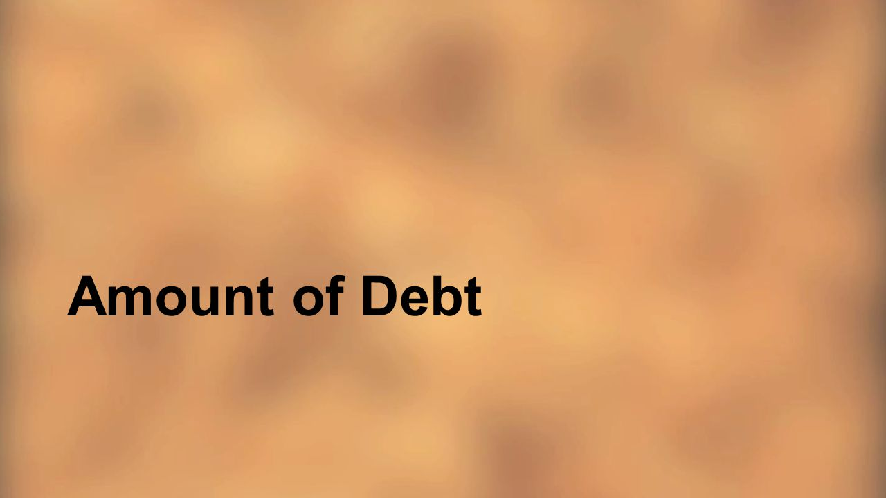 Amount of Debt