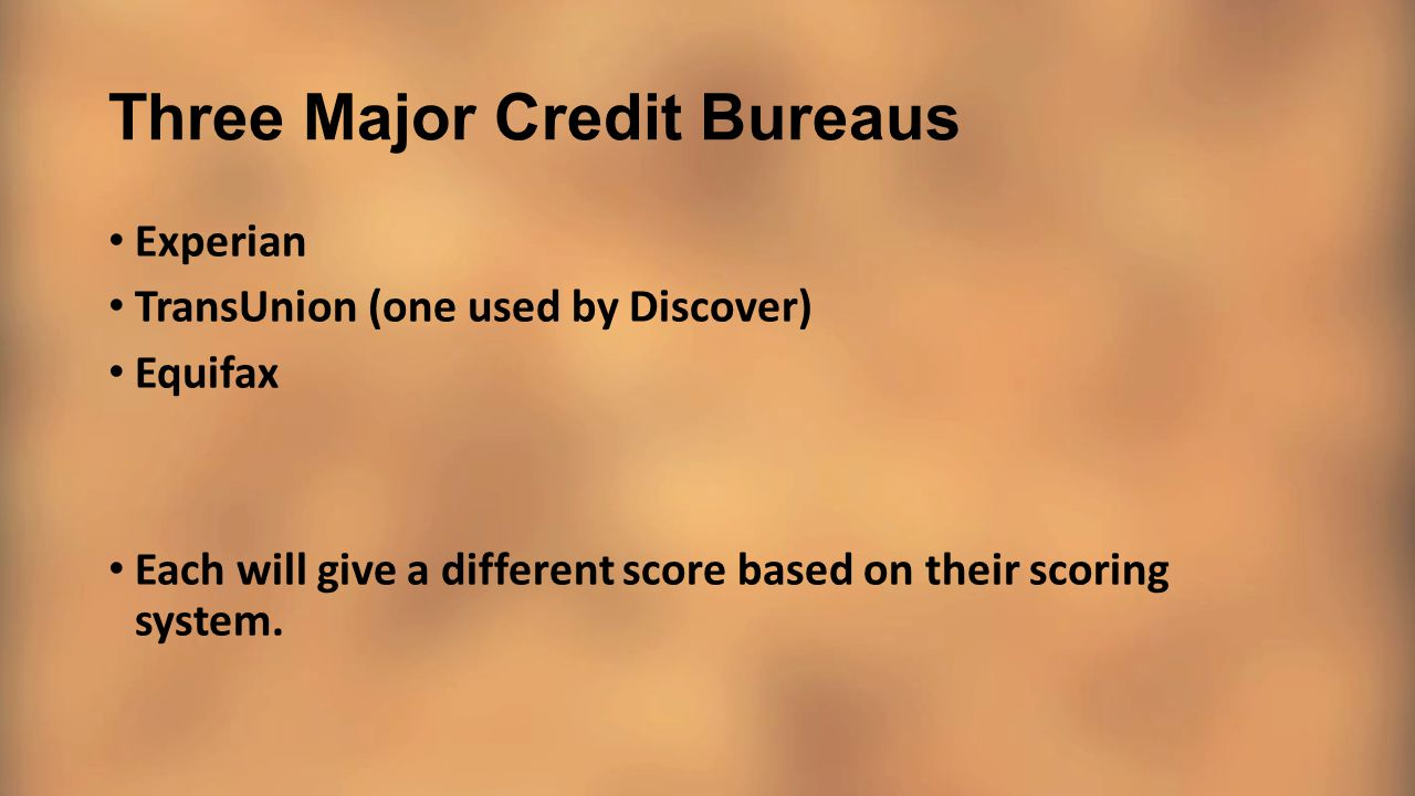 Three Major Credit Bureaus