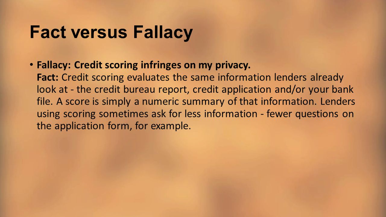 Fact versus Fallacy