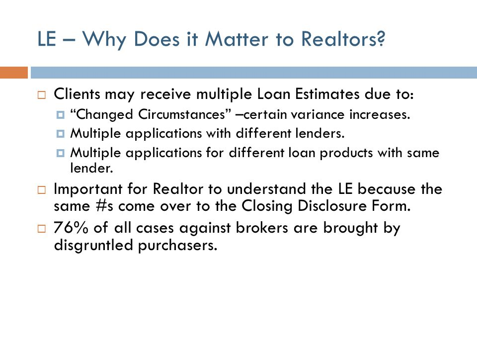 LE – Why Does it Matter to Realtors