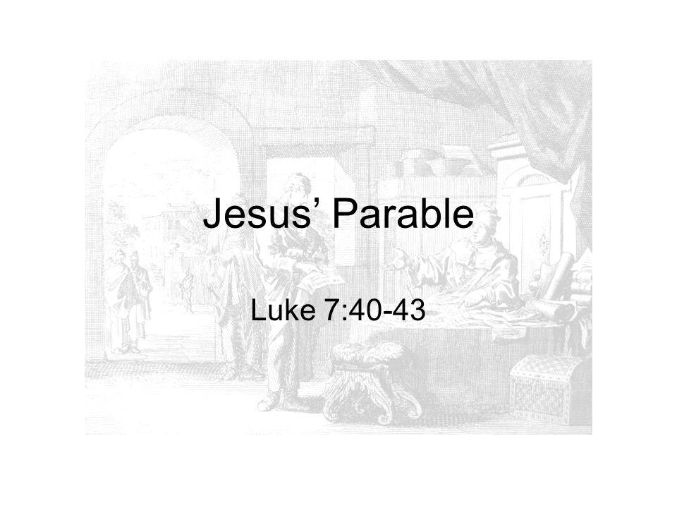 Jesus' Parable Luke 7:40-43