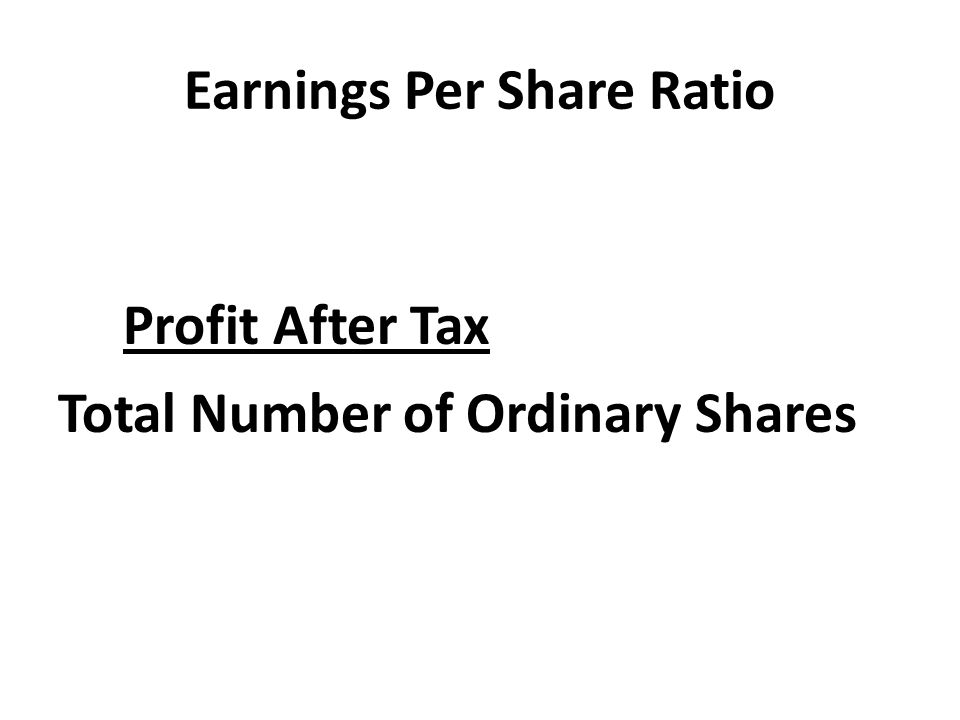 Earnings Per Share Ratio