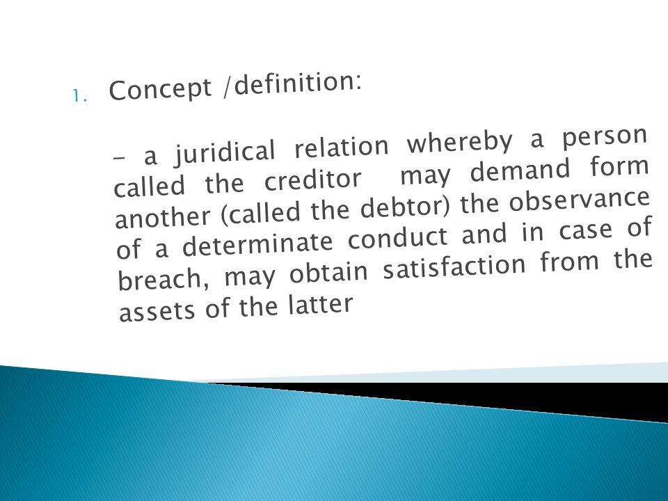 Concept /definition: