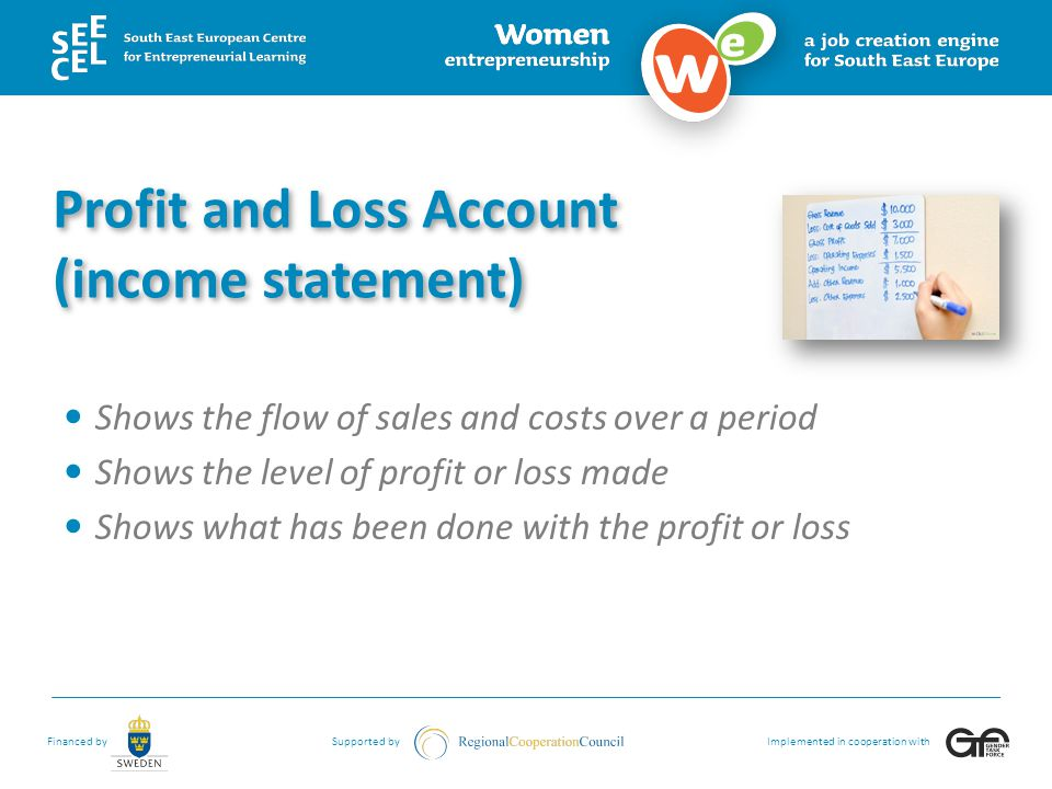 Profit and Loss Account (income statement)