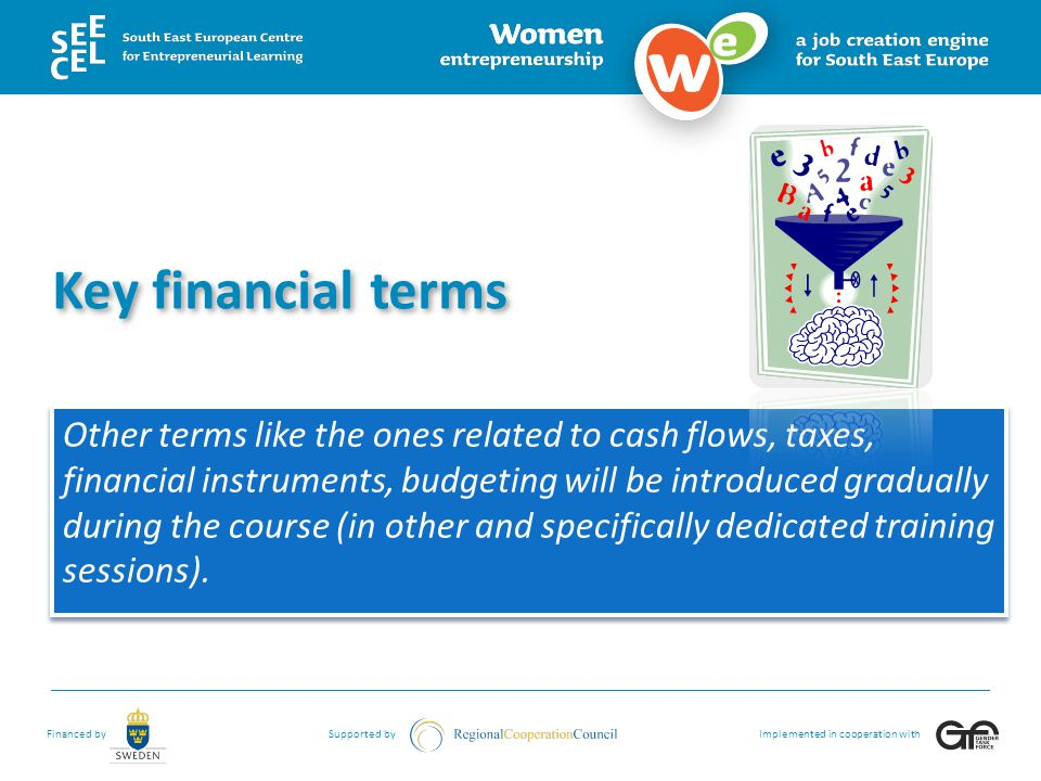 Key financial terms