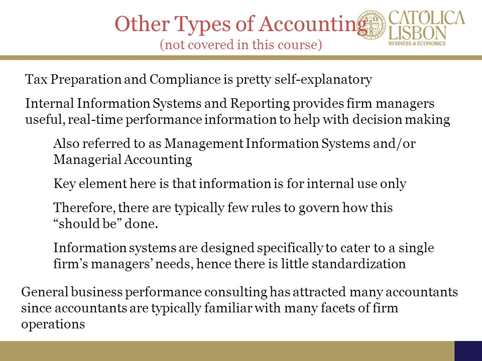 Other Types of Accounting