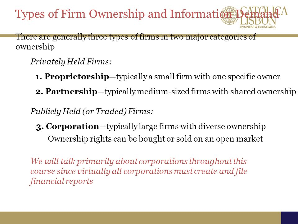 Types of Firm Ownership and Information Demand