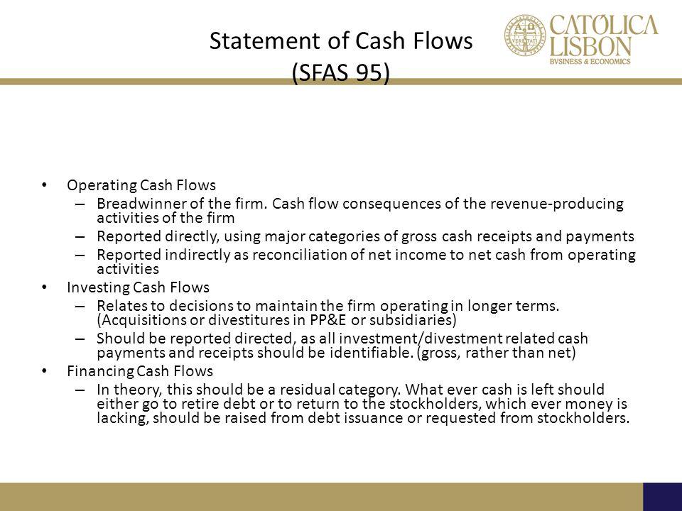 Statement of Cash Flows (SFAS 95)