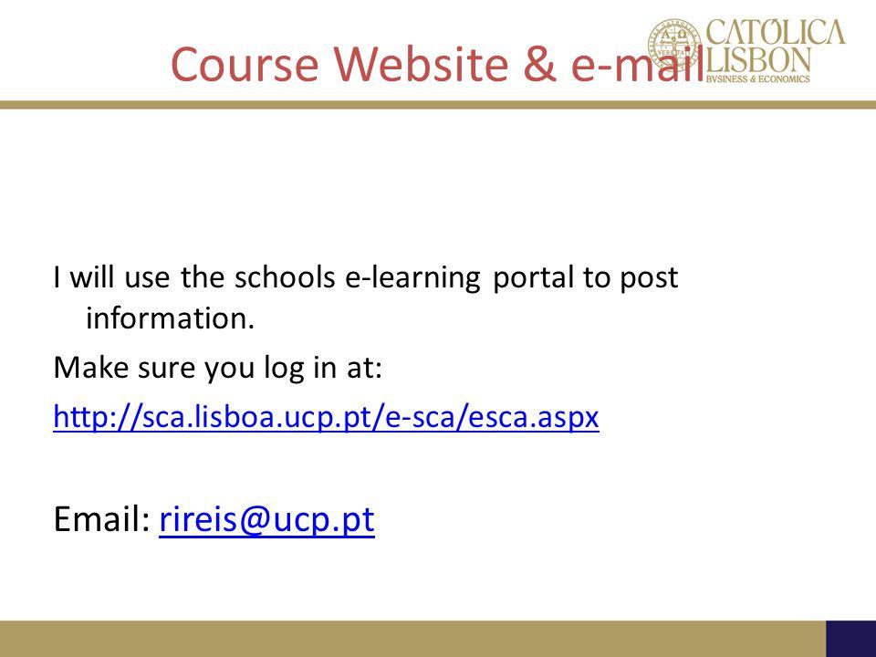 Course Website & e-mail