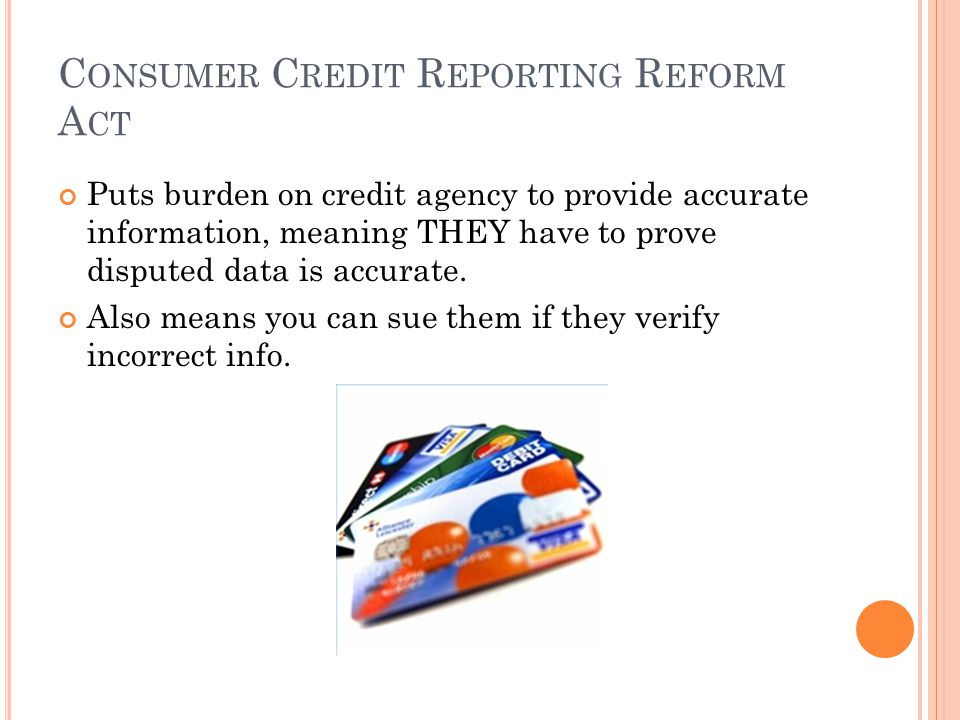 Consumer Credit Reporting Reform Act