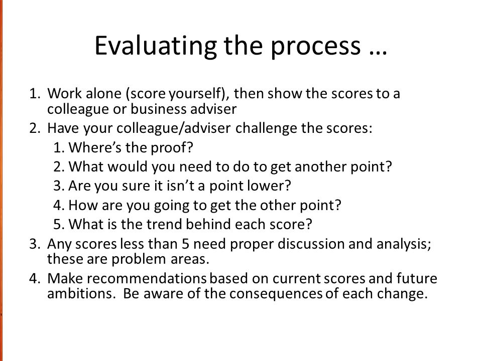 Evaluating the process …
