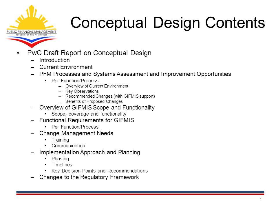 Conceptual Design Contents