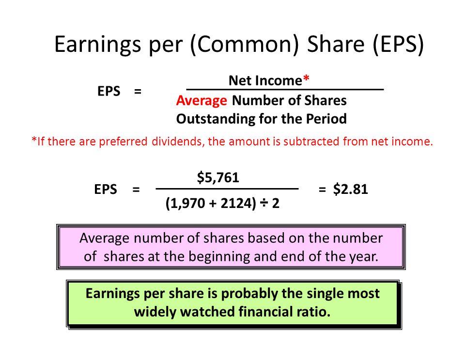 Earnings per (Common) Share (EPS)