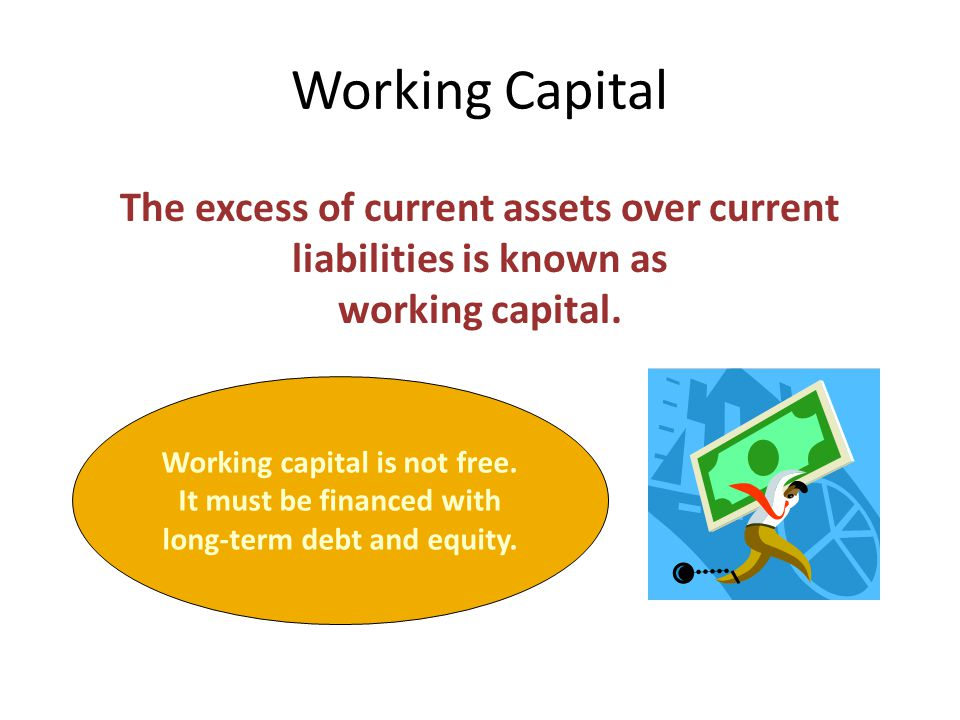 The excess of current assets over current liabilities is known as