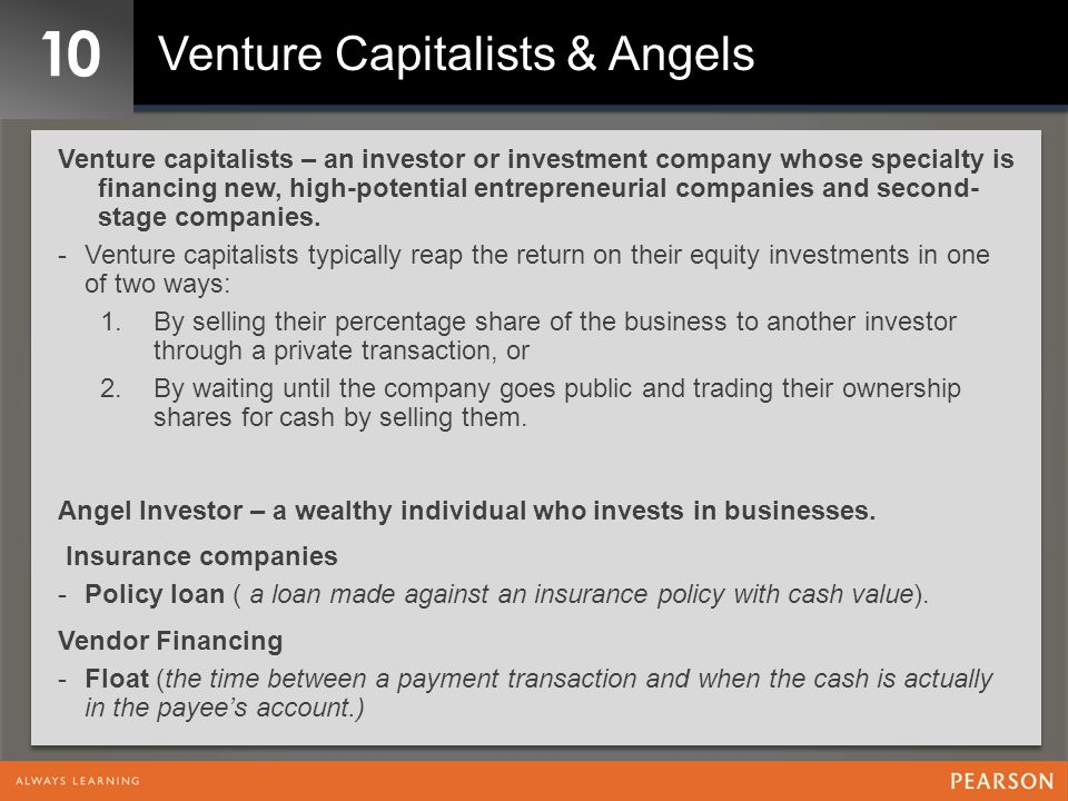 10 Venture Capitalists & Angels