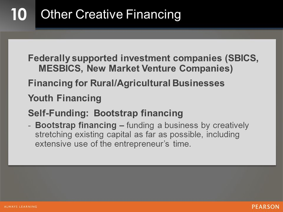 10 Other Creative Financing