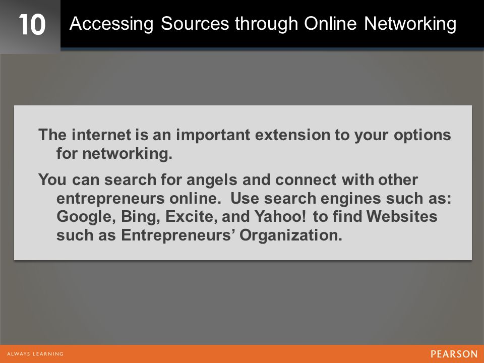 10 Accessing Sources through Online Networking