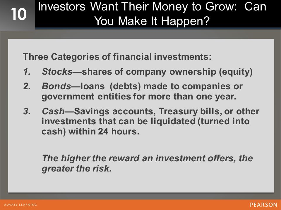 Investors Want Their Money to Grow: Can You Make It Happen