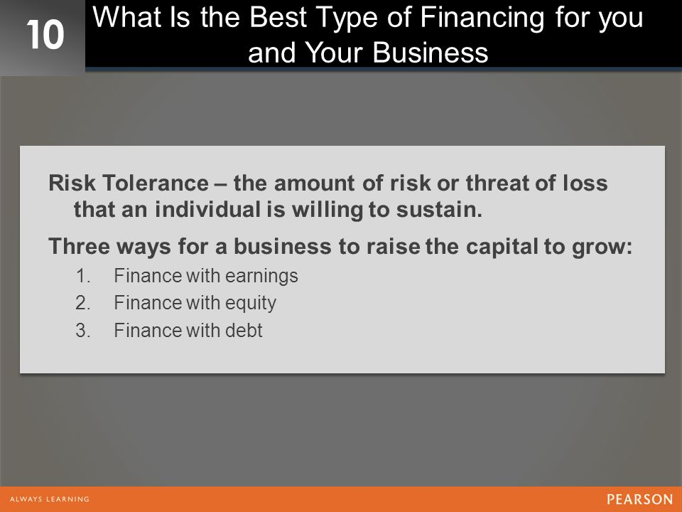 What Is the Best Type of Financing for you and Your Business