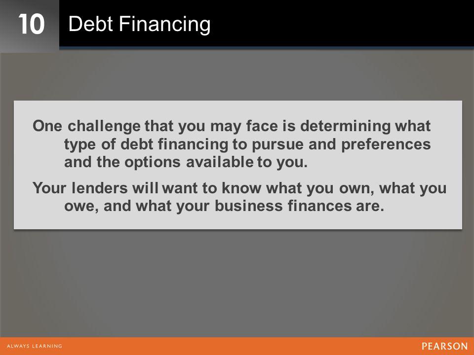 10 Debt Financing.