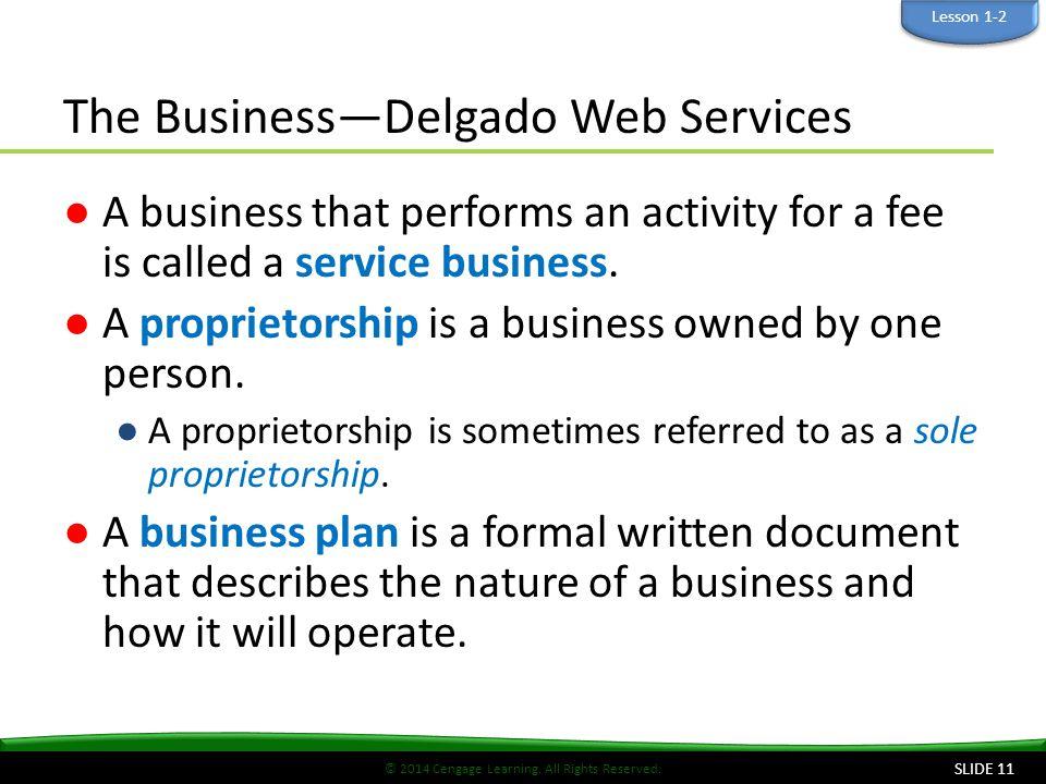 The Business—Delgado Web Services
