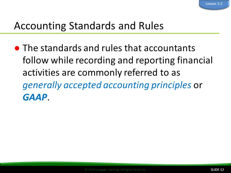 Accounting Standards and Rules