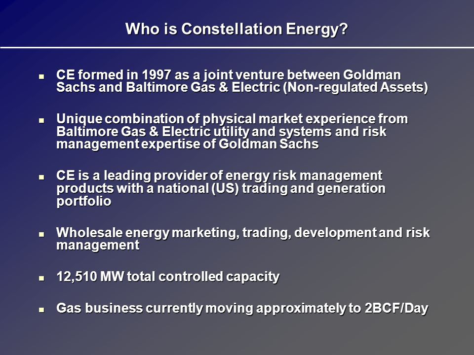 Who is Constellation Energy